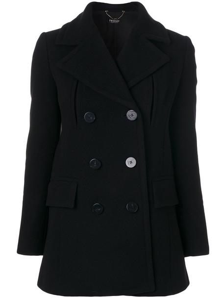 Twin-Set coat double breasted women black wool