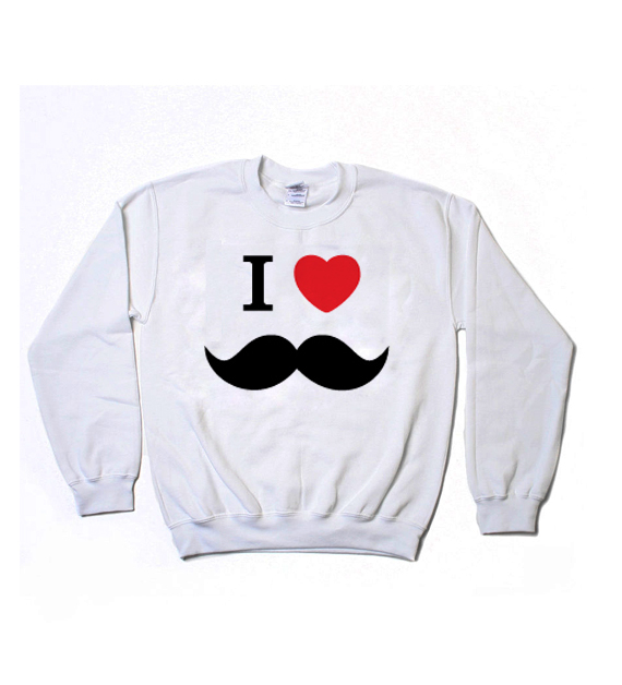 I Heart Mustache Sweatshirt · Luxury Brand LA · Online Store Powered by Storenvy