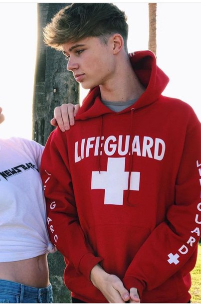 c0467c71355 Lifeguard Hoodie in Red (Unisex Sizing) - (808)661-7828 Maui s