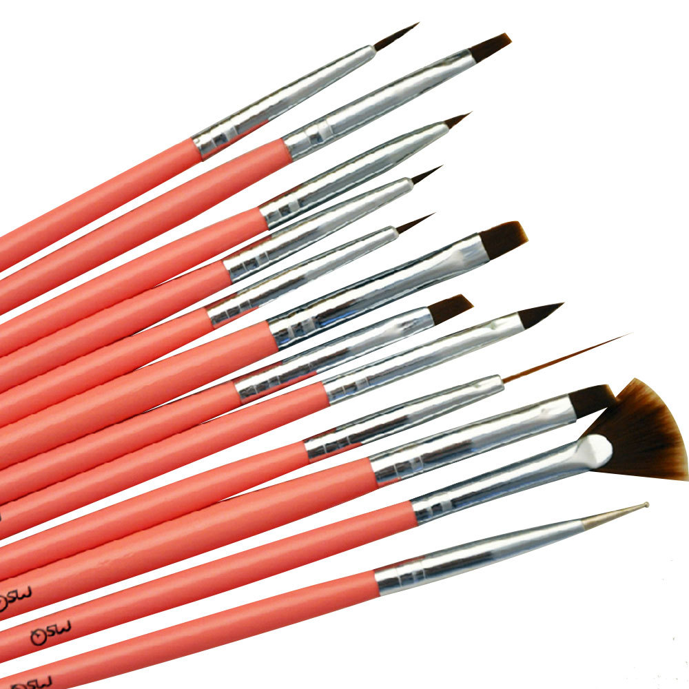 [grxjy5140027] 12pcs Nail Art Design Painting Pen Polish Brush Set