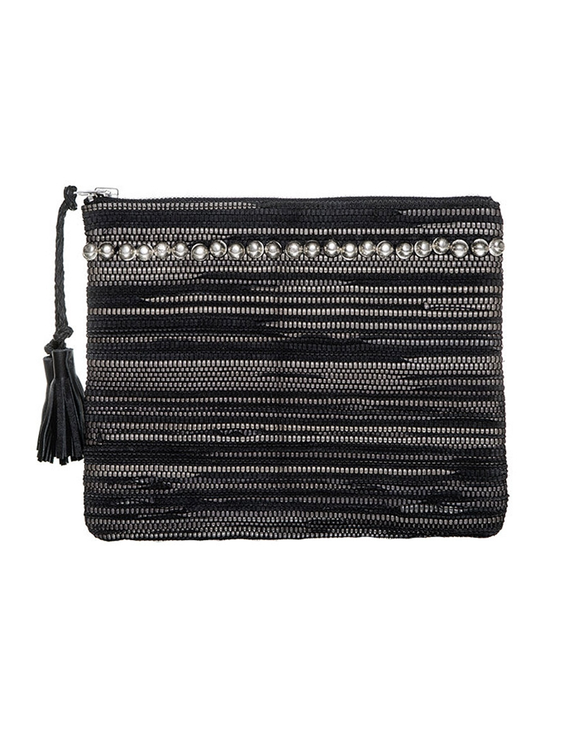 SIMONE CAMILLE The Dash Woven Leather Clutch Women for Women at Ron Herman