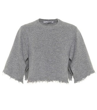 sweater cropped grey