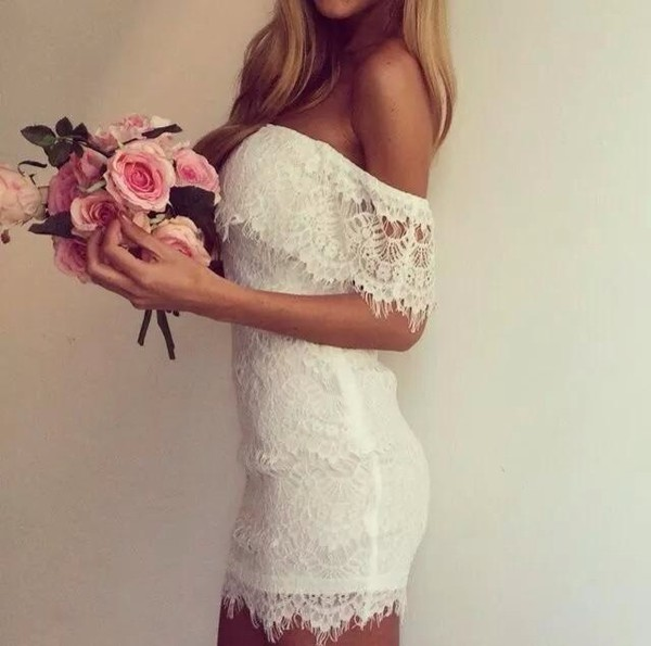 dress white dress white flowers roses girl lace dress lace beauty insanity perfect combination