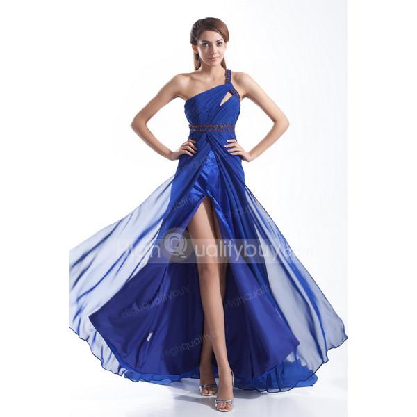 one shoulder chiffon dress floor length dress a line dress evening dress