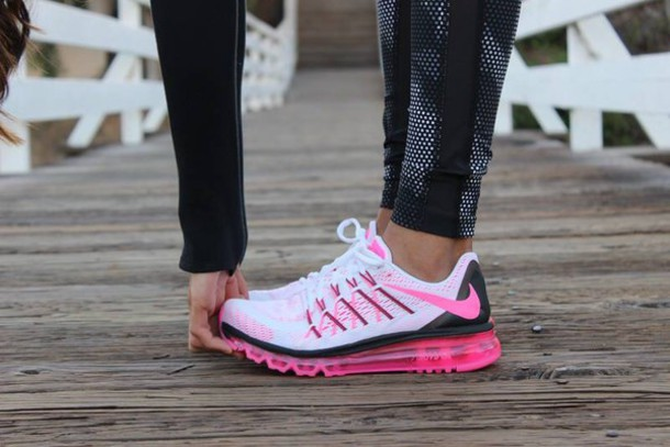 shoes pink nike airmax pink and black nikes