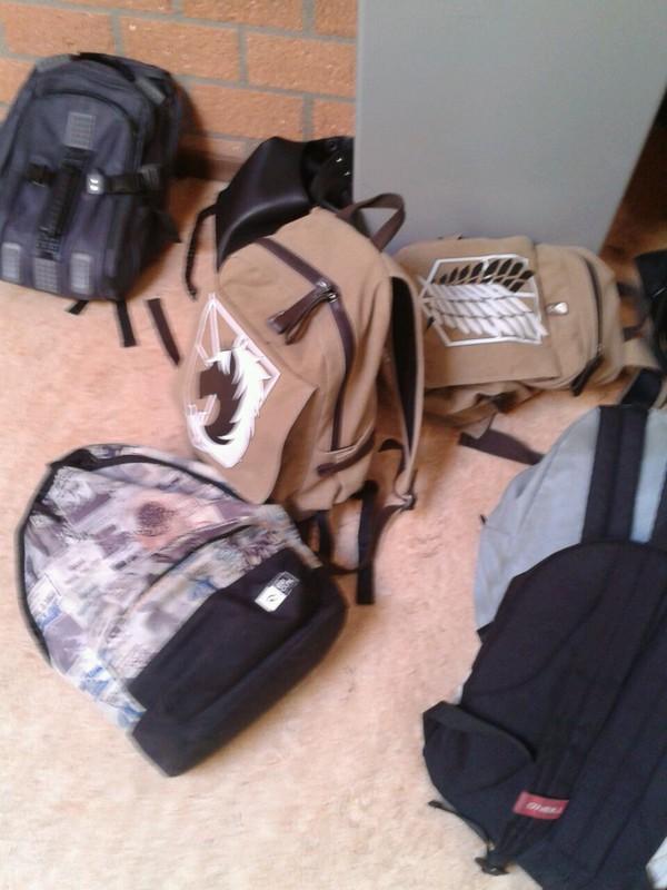 bag backpack attack on titan anime manga