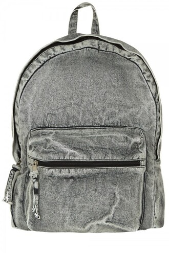 bag backpack denim faded denim acid wash primark grunge vintage urban denim backpack alternative hipster summer accessories