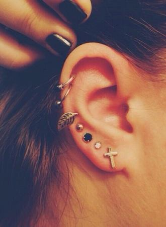 jewels jewelry earrings cross cross earring studs