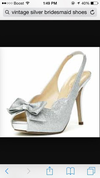 shoes glitter glitter heel shoes wedding accessories bridesmaid prom shoes special occasion bow heels high heels wedding shoes