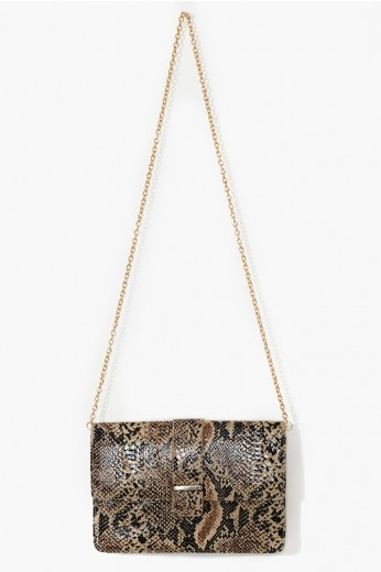 Snake Skin Clutch- Clutches and Bags- $49.99