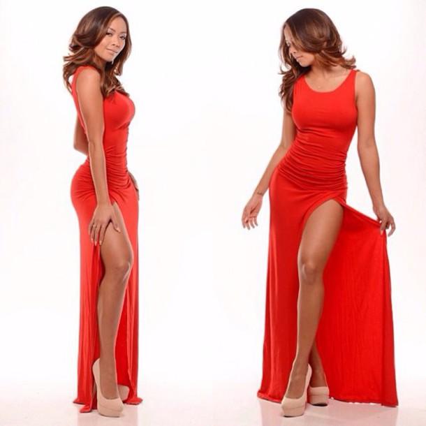 dress red dress bodycon dress