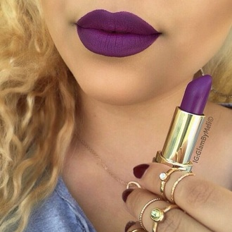 make-up purple lipstick lips dark purple
