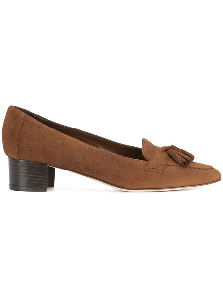 women loafers leather suede brown shoes