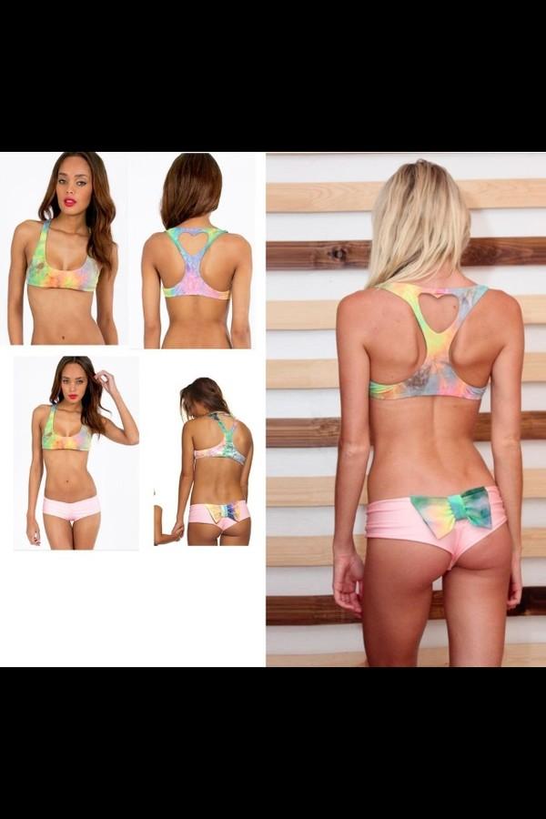 df8d885d0d BNWT Lolli Swim Bow Heart Cutout Swimwear Bikinis Top Bottom Bikini ...