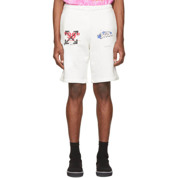 Off-White White Dondi Bus Shorts