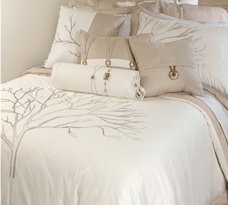 bedding natural nude beige tree home accessory classy bedroom