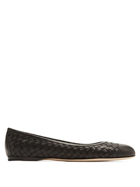 Bottega Veneta ballet flats ballet flats leather black shoes