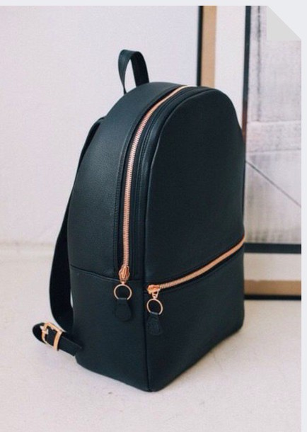 leather bag grunge gold holiday gift mens backpack bag black backpack sac à  dos sac noir cd565bde98b58