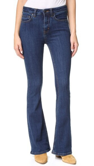 jeans flare jeans flare high dark blue dark blue