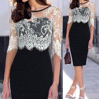 dress lace black dress rose wholesale lace dress black and white fashion women gown prom dress