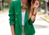 pop culture afternoon,green jacket,jacket,coat,green,blazer