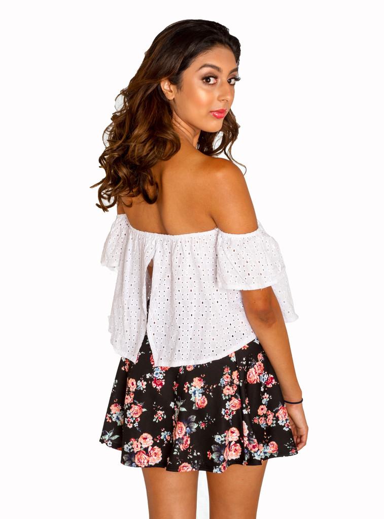 Off the shoulder eyelet top affordable junior clothing for Best affordable dress shirts