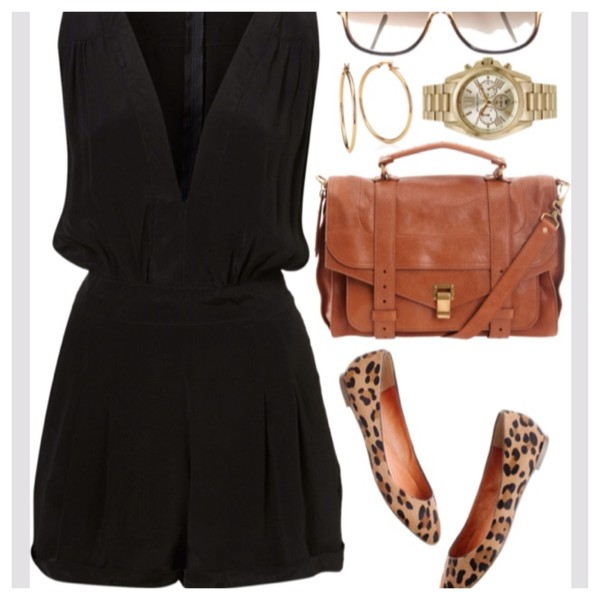 shoes romper black