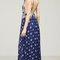 Floral bandana print maxi dress