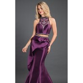 dress,mermaid,aubergine,colorful,ava allan