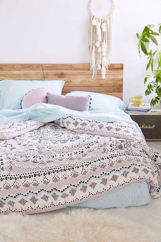 home accessory bedding hipster pastel