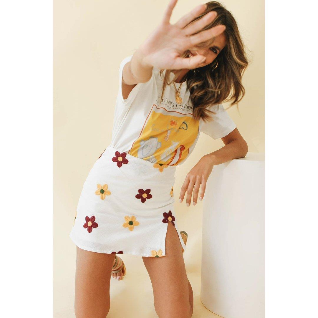 Travel Series Mini Skirt // Floral