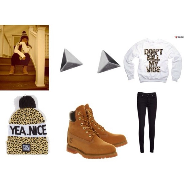 hat tyla wolf  cheetah shoes jewels shirt wolftyla pants blouse jeans sweater