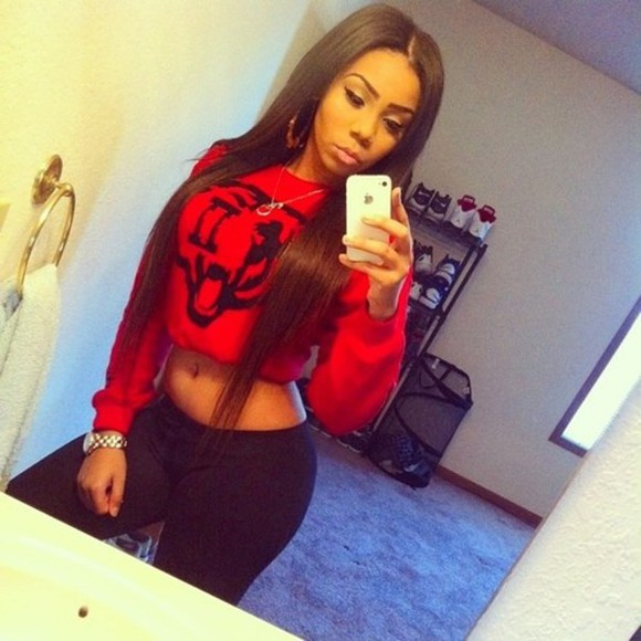 red red sweater cropped sweater shirt sweater red shirt crop tops animal shirt red winter sweater leggings