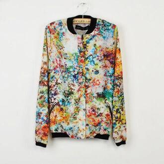 jacket floral floral print jacket coat