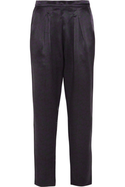 Eres - Ready Leopard-print Silk-satin Pajama Pants - Black