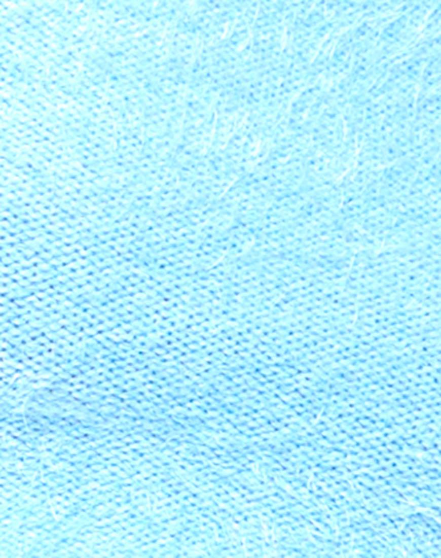 Buy Motel Bellflower Knit Crop Top in Soft Blue at Motel Rocks