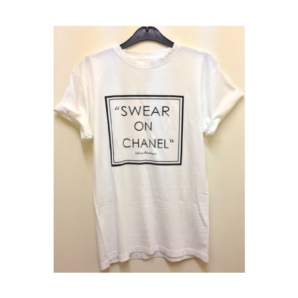 NEW SWEAR ON CHANEL RIHANNA COMME DES FUCKDOWN, HYPE GEEK T-... - Polyvore