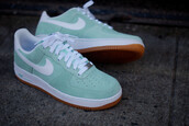 shoes,mint,mint green shoes,nike,nike shoes,nike sneakers,nike air,nike air force 1,sneakers