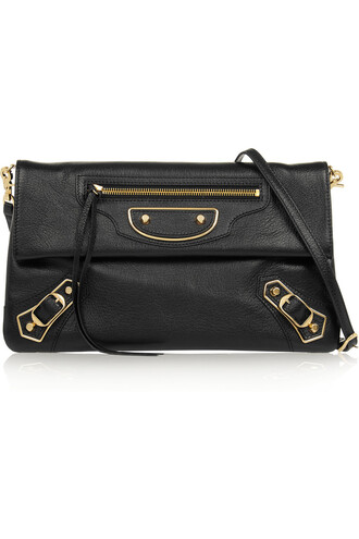 metallic classic bag shoulder bag leather black