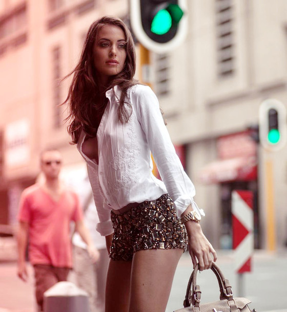 Long Sleeve Blouse And Shorts 13