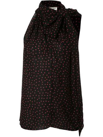 blouse sleeveless black top