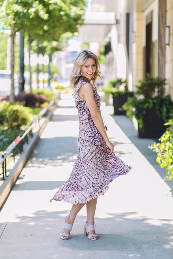 83586615b5a citypeach blogger dress shoes bag jewels midi dress sandals spring outfits.