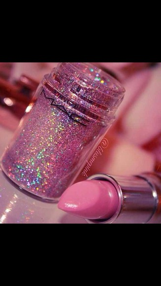 mac make-up glitter pigment sparkly pretty in pink