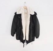 jacket,black,fur jacket,coat,warm,nice,winter outfits