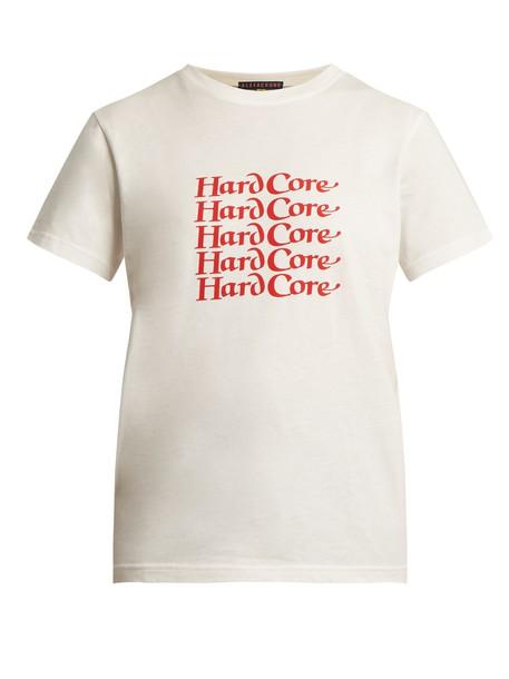 ALEXACHUNG t-shirt shirt cotton t-shirt t-shirt cotton print white top