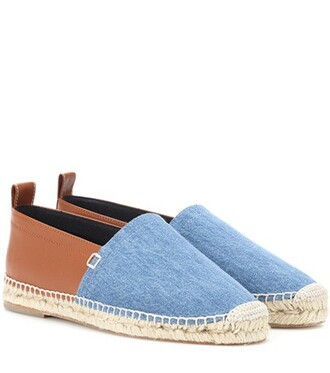 denim espadrilles leather shoes
