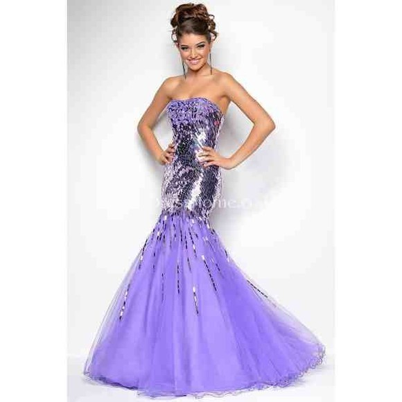 dress purple dress purple prom dress silver sparkle dress