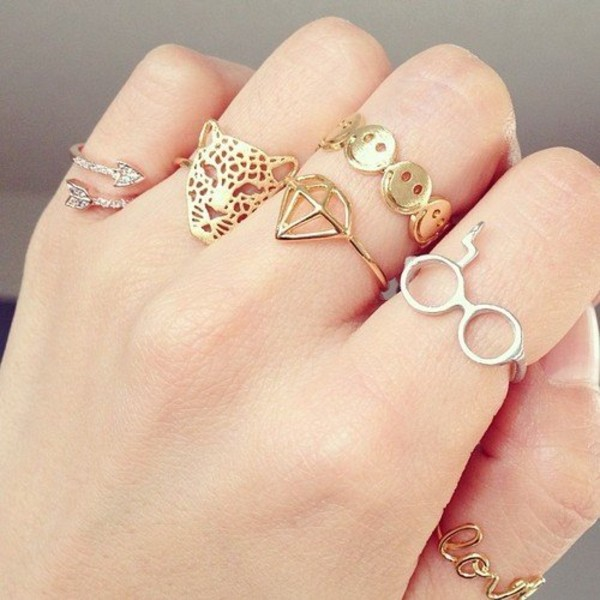 jewels leopard print nightmare before christmas jewerly superman harry potter arrow ring ring