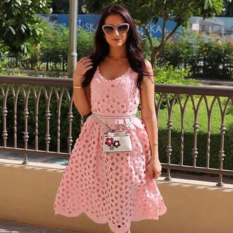 dress pink dress baby pink storets baby pink dress flowers flowered