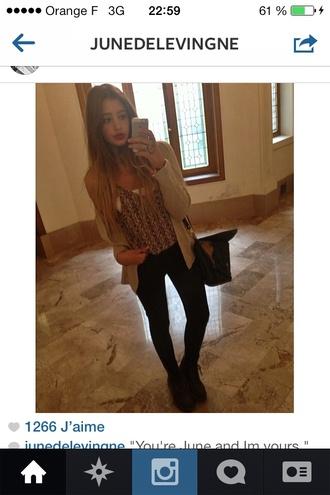 jeans shirt top junedelevigne instagram brandygir cardigan brandy